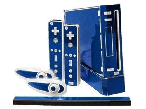 Nintendo Wii Skin - NEW - OCEAN BLUE system skins faceplate decal mod