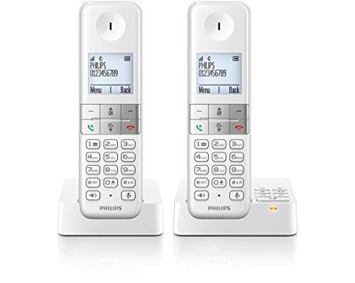 D4552W/38 schnurloses Telefon mit Anrufbeantworter (4,6 cm (1,8 Zoll) Display, HQ-Sound, Mobilteil mit Freisprecheinrichtung) weiß