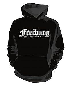 Kapuzenpullover FREIBURG you´ll never walk alone Fan Hoodie Sweatshirt NEU *f206