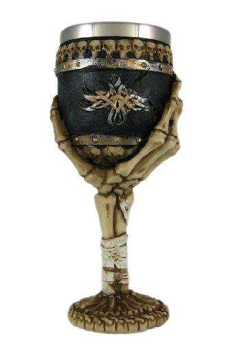 Ossuary Style Skeletal Hand Wine Goblet Bones