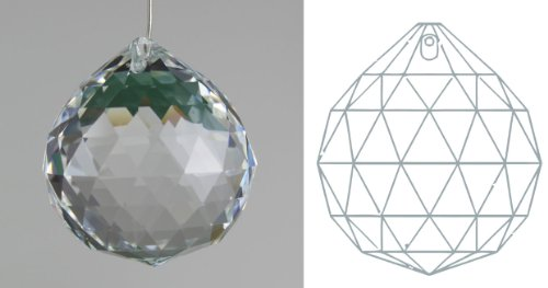 50mm 30% Lead Crystal Ball Prism - 1.97