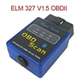 Mini ELM327 V1.5 Bluetooth Wireless OBD-II OBD2 Auto Car Diagnostic Scan Tool