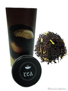 Vanilla Beans Extract Flavored Loose Leaf Black Ceylon Tea with Gift Tin Gw=10 Oz