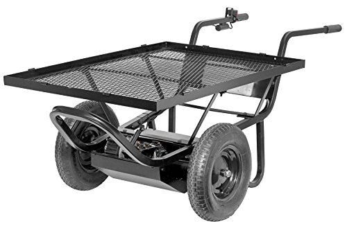 Paw-Power Assisted Wheelbarrow 44023 Power Assisted Weelbarrow With 29 By 42-Inch Steel Cargo Deck