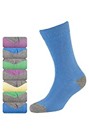 7 Pack of Cotton Rich Freshfeet™ Contrast Heel & Toe Socks with Silver Technology