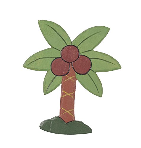 Darice, 5 IN. PAINTED CARVE WOOD PALM TREE DWO