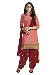 Fashionup Women's Cotton Ethnic Dress Material ( Brown )
