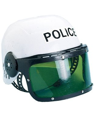 New Child Costume Police Motorcycle Cop Helmet & Visor