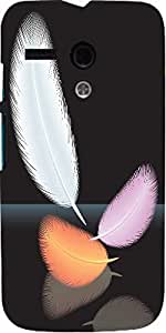 Snoogg Feathers Vector Designer Protective Back Case Cover For Motorola G / M...
