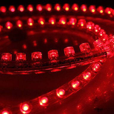 Bright-Ddlwaterproof 48Cm 48-Led Red Led Strip Light For Car (12V)