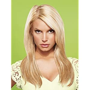 "22"" Straight Clip-In Hair Extensions by Jessica Simpson hairdo"