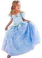 Hallowkid Girls Kids Children Cinderella Fancy Princess Palace Cosplay Dress