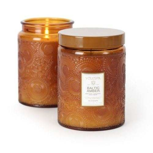 Voluspa Baltic Amber Large Glass Jar Candle 16 oz