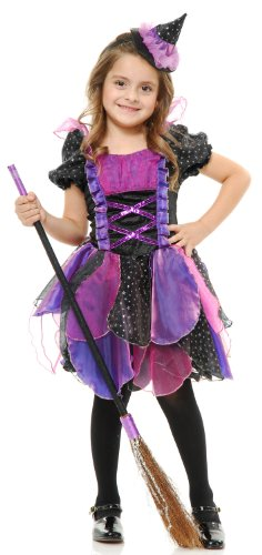 Charades Girls Glitter Witch Costume