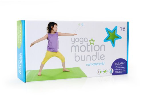 Yoga Motion Bundle: Yoga Motion DVD, Eco-friendly Kids Yoga Mat, & Stainless Steel Water Bottle