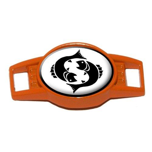 Pisces The Fish Zodiac Horoscope - Shoe Sneaker Shoelace Charm Decoration - Orange