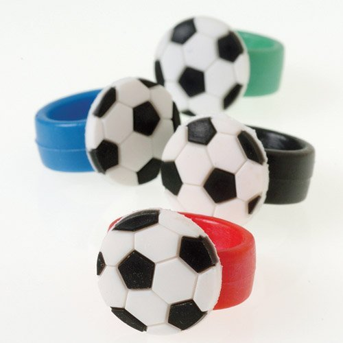 US Toy - Soccer Rubber Rings, 12 Count, 5.1 x 0.9 x 0.5 inches ; 0.2 ounces