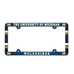Buy Michigan Wolverines Full Color License Plate Frame by WinCraft