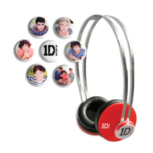 One Direction (1D) Signature Series Snapcaps On Ear Headphones - Red
