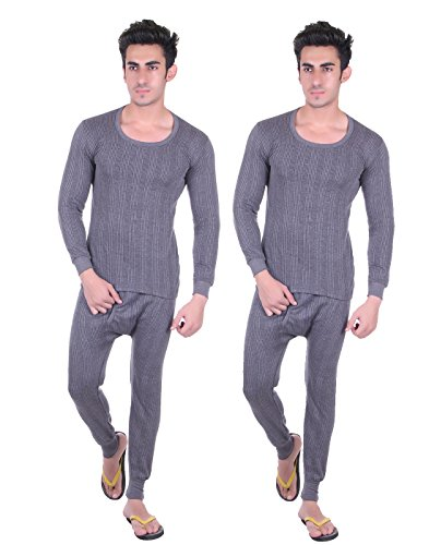 Unix-Mens-Grey-Thermal-Set-Winter-Wear-Top-Bottom-Pack-of-2-UN3608-P