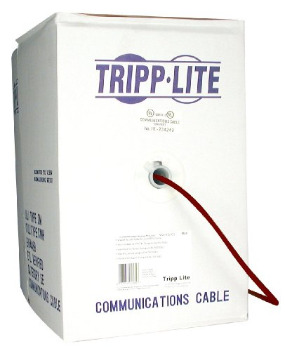1000FT CAT5E Maroon Pvc Solid 24AWG Zero-skew UTP Patch Cord 4PR
