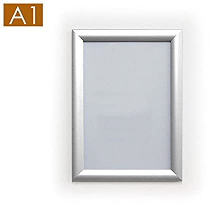 A1 White Aluminium Snap Frame - 25mm Mitred Corners - Stahldas® [Pack of 10]