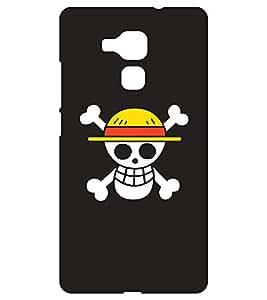 Chiraiyaa Designer Printed Premium Back Cover Case for Huawei Honor 5C (skull funny) (Multicolor)