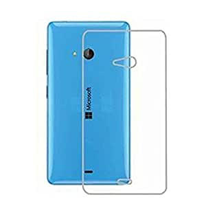 eworld Exclusive Soft Silicone TPU Jelly Crystal Clear Case Soft Back Case Cover For Microsoft Lumia 540