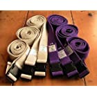 All Cotton Side Release Buckle Yoga Strap 6 Foot Natural