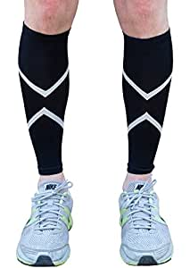 #1 Calf Compression Sleeves with Reflective Technology - Small-Medium - Shin Splint Guards for Men and Women - Boost Circulation and Recover Faster - Includes 2 Calf Compression Sleeves - 100% Money Back Guaranteed