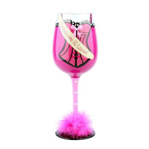 Top Shelf Girls Gone Bridal Bachelorette on The Loose Wine Glass