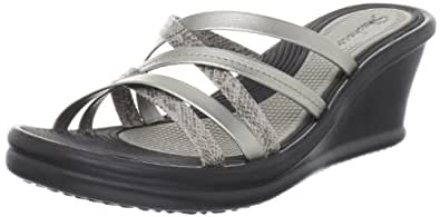 Skechers Women's Rumblers Tangled Wedge Sandal women's 10