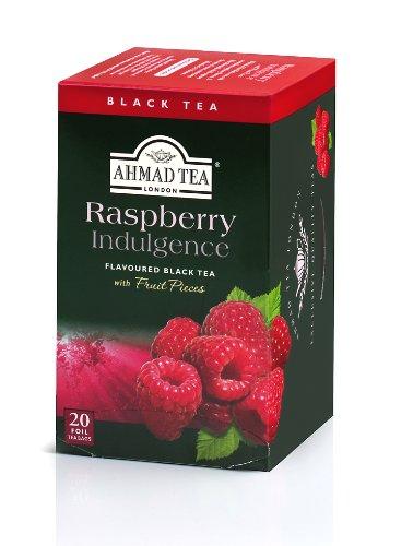 Ahmad Tea Raspberry Indulgence Black Tea, 20-Count Boxes (Pack of 6)