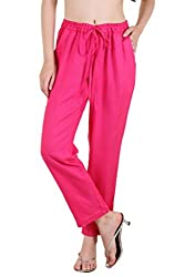 Ayaany Pink Side Pocket Rayon Trousers