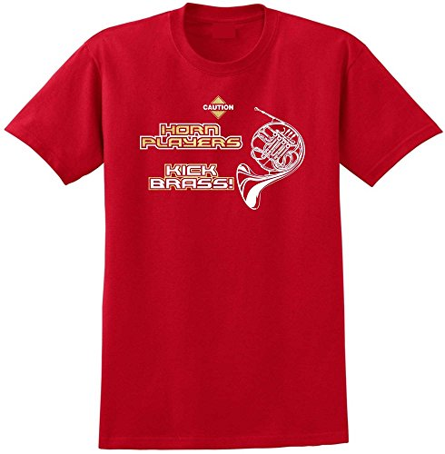 French Horn Players Kick Brass - Red Rosso T Shirt Taglia 87cm 36in Small MusicaliTee