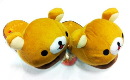 Rilakkuma Plush Slipper (Adult Size Up to 9″ Long)