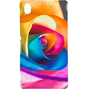 Casotec Close Up Pattern Design Hard Back Case Cover for Sony Xperia M4 Aqua