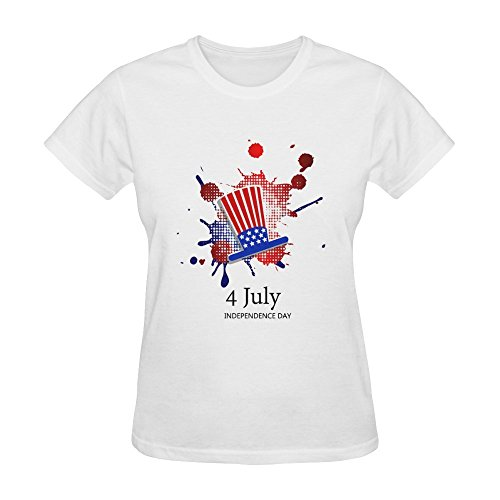 Huang Yu Women's Independence Day Pattern T Shirt X-Large
