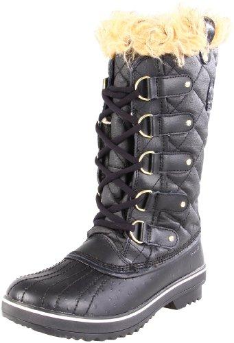 Sorel Women's Tofino Canvas NL1779 Boot,Black/Oyster Gray,9 M US