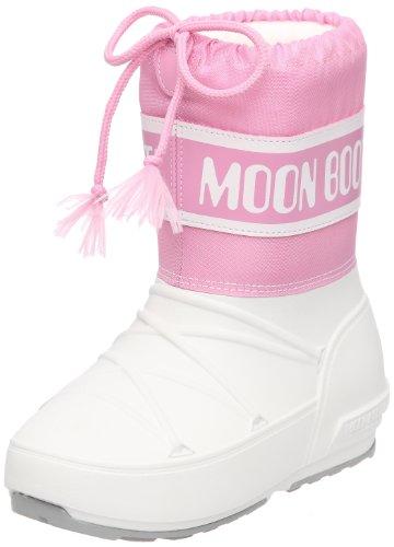 Tecnica Moon Boot POD, 34020100011, Unisex-Kinder-Winterstiefe, Weiss (weiss - pink 011), Gr. 29