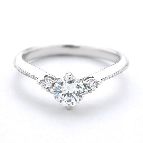 (ダイヤモンドワタナベ)Diamond Watanabe 卸直営オーダー作製 婚約指輪 エンゲージリング ダイヤモンド 0.300ct Dカラー VS1 EXCELLENT プラチナ Pt900 鑑定書付き メレ 立て爪 【マラソン201207_ファッション】 日本国内加工 ご指定のサイズ 6号でお作りします