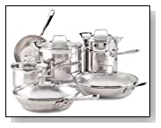 Emeril by All-Clad E884SC74 Chef's Stainless Steel 12-Piece Cookware Set, Silver