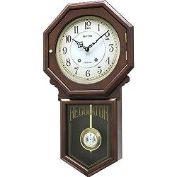 Rhythm USA Colonial Schoolhouse Regulator Wall Clock, Model CMJ377NR06