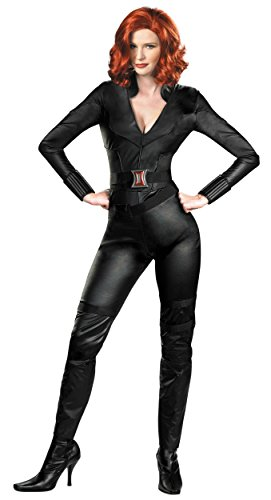 Disguise Womens Deluxe Marvel Avengers Black Widow Halloween Costume