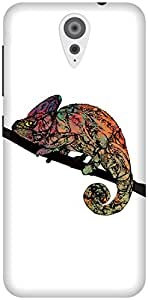 The Racoon Grip Chameleon hard plastic printed back case / cover for HTC Desire 620g