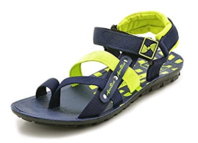 AeroStar Men's Blue Green Causal Sandals and Floaters