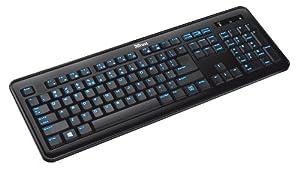 Trust Elight LED Illuminated Keyboard for PC, Laptop with UK-Layout - Black Illuminated