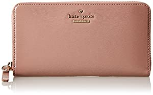 kate spade new york Cedar Street Patent Lacey Wallet,Rose Water,One Size