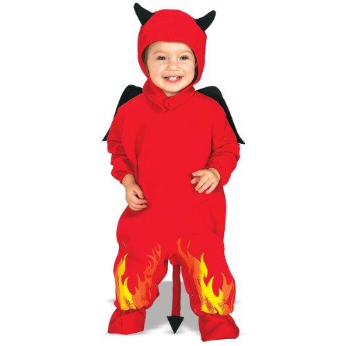 [Lil Devil EZ-On Romper Costume - Infant] (Devil Costums)