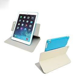 Capdase Sider Baco Folder Case for Apple iPad Air - White / Blue (FCAPIPAD5-1B23)